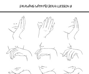 drawing, how to draw, and hands image
