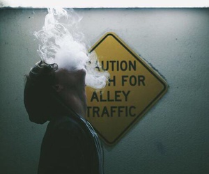 smoke, boy, and grunge image
