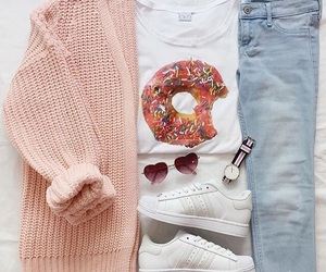 outfit, fashion, and donuts image