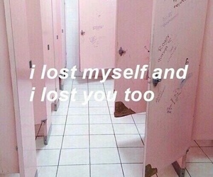 pink, lost, and quotes image