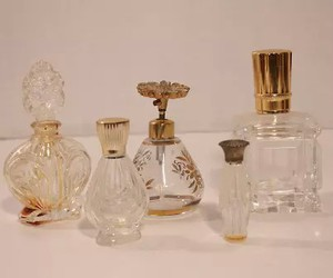 perfume, gold, and vintage image