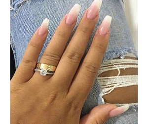 girl, married, and nails image
