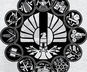 districts, the hunger games, and panem image