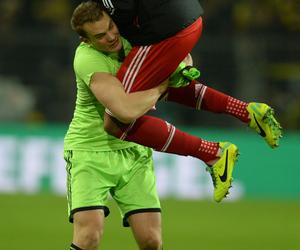 funny, hug, and goalkeeper image