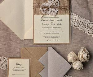 invitation and wedding image