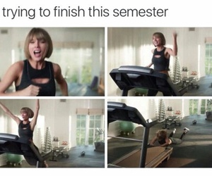 funny, semester, and school image