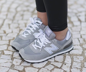 black, sneakers, and grey image