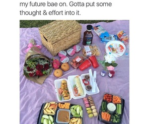 food, love, and picnic image