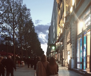 best friends, france, and champs elysees image