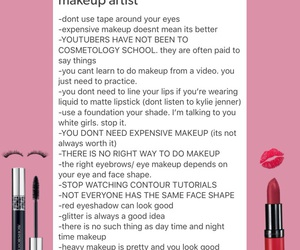 artist, makeup, and tips image
