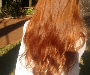 curly hair, ginger, and ginger hair image
