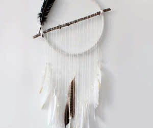 white, diy, and dreamcatcher image