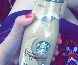 bottle, coffee, and frappuccino image