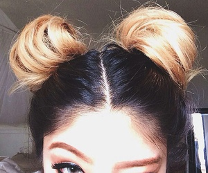 hair, hairstyle, and eyes image