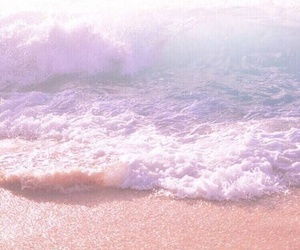 beach, pink, and blue image