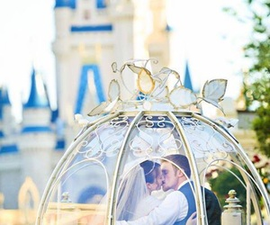 love, disney, and wedding image