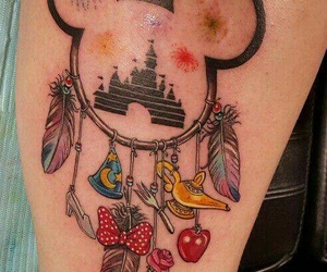 disney, tatto, and mickey image
