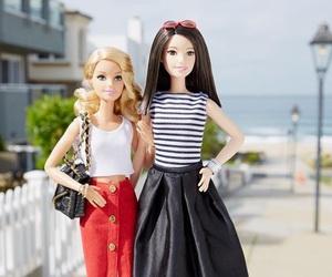 barbie, black white, and friendship image