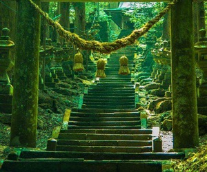 green and japan image