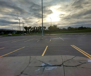 parking lot and sky image