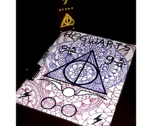 books, deathly hallows, and draw image