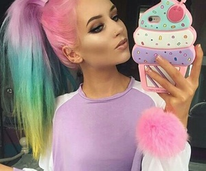 Black Eyeliner, ice cream phone cases, and nose piercing image