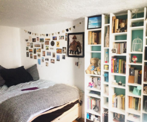 apartment, bedroom, and room decor image