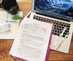 desk, motivation, and stationary image