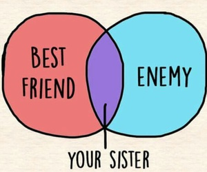 best friend, enemy, and sister image