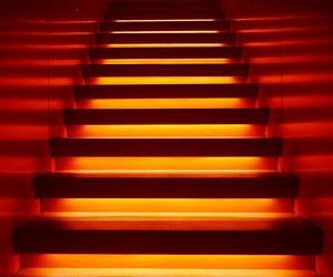 light, neon, and orange image