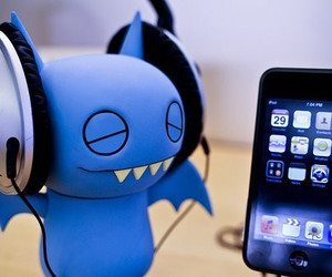 iphone, music, and blue image