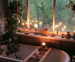 bath, bathroom, and candle image