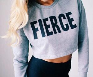 fashion, girl, and fierce image