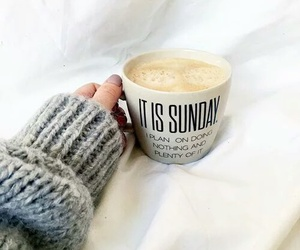 coffee, Sunday, and sweater image