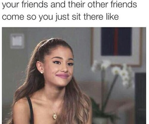 funny, ariana grande, and friends image