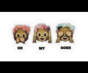 emoji, monkey, and OMG image
