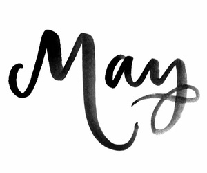 hand lettering, may, and spring image
