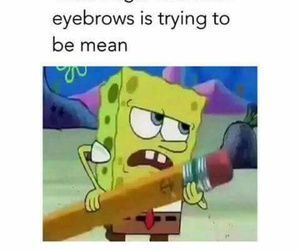 funny, eyebrows, and lol image