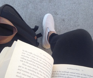 black leggings, books, and reading image