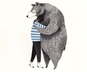 bear, drawing, and illustration image