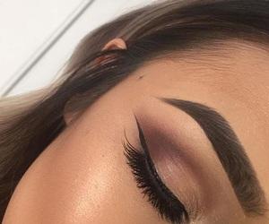 eye, girl, and makeup image