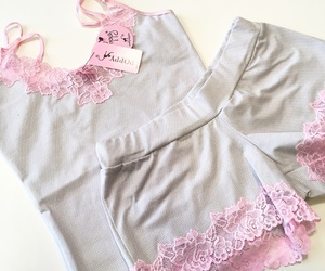 grey, pjs, and pyjamas image