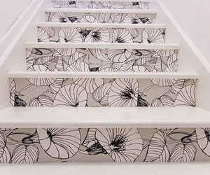 stairs and flowers image