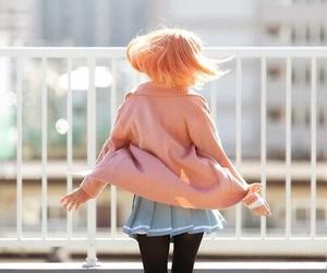 anime, pink hair, and kyoukai no kanata image