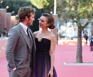 lily collins, sam claflin, and movie image