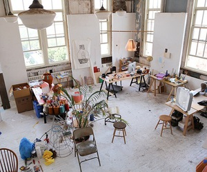 art, room, and studio image