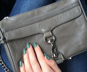 bag, clutch, and green nail image