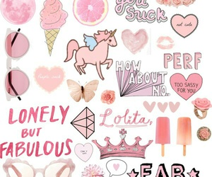 pink, fabulous, and ice cream image