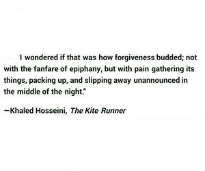forgiveness, pain, and khaled+hosseini image