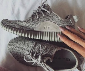shoes, yeezy, and nails image